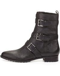 Rebecca Minkoff Malla Triple Buckle Moto Boot Black 410b110b - Lyst