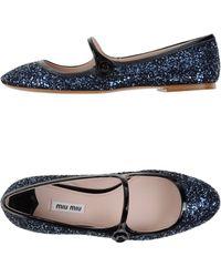Miu Miu Ballet Flats blue - Lyst