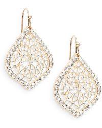Saks Fifth Avenue Lacy Sparkle Earrings - Lyst