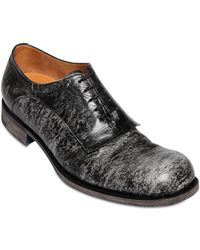 Jil Sander Marble Leather Lace-Up Shoes - Lyst