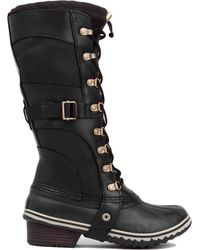 Sorel Conquest Carly Waterproof Boots In Black - Lyst