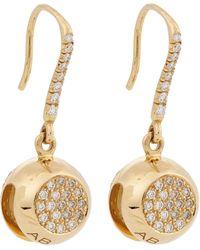 Aurelie Bidermann Multi Diamond  Gold Bell Drop Earrings - Lyst