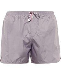 Gucci Contrast-Drawstring Swim Shorts gray - Lyst
