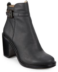 Elizabeth And James Tilie Leather Ankle Boots - Lyst