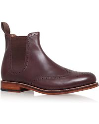 Foot The Coacher - Burgundy Jacob Chelsea Boot - Lyst