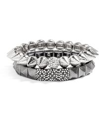 BaubleBar Silver Punky Brewster Bracelet Set - Lyst