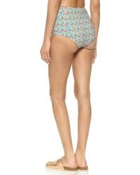 Marc By Marc Jacobs - Mini Jerrie Rose High Waisted Bikini Bottom - Pale Jade Multi - Lyst