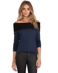 Nicholas Babywool Off Shoulder Top - Lyst