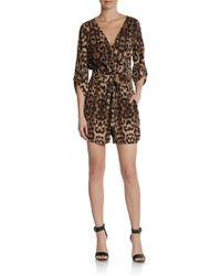5/48 Leopard-Print Short Jumpsuit - Lyst