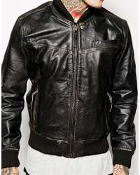 Pepe Jeans B Leather Jacket - Lyst