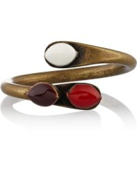 Isabel Marant Blondie Brass Resin Ring - Lyst