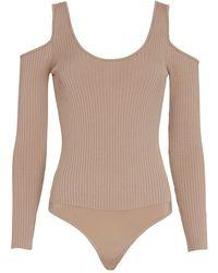 Exclusive For Intermix - Jayce Cold Shoulder Knit Bodysuit: Blush - Lyst