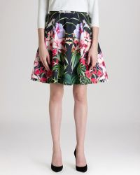 Ted Baker Skirt - Hotley Mirrored Tropics - Lyst