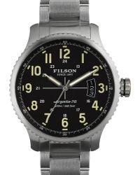 Filson - 43mm Mackinaw Field Link Bracelet Watch - Lyst