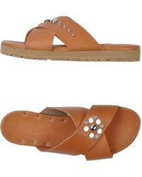 High Sandals brown - Lyst