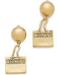 Moschino Handbag Earring - Gold - Lyst