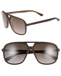 Gucci Women'S 60Mm Aviator Sunglasses - Havana - Lyst