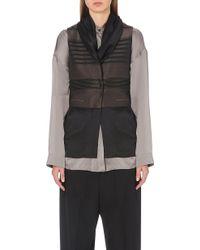 Haider Ackermann Silk-panel Wool-blend Waistcoat - Lyst