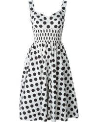 Dolce & Gabbana Sweetheart Dots Dress black - Lyst