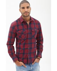 21men Classic Fit Plaid Shirt - Lyst