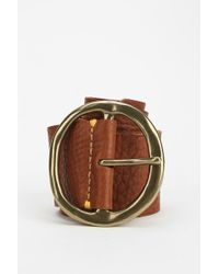 49 Square Miles - Pebble Beach Wide Leather Belt - Lyst