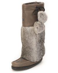 Manitobah Mukluks - Rabbit-fur Tall Grain Mukluk Boot - Lyst