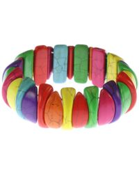 Indulgence Jewellery - Elastic Multi Colour Resin Bracelet - Lyst
