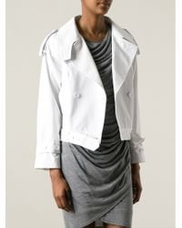Unconditional - Cropped Trench Coat - Lyst