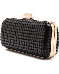 Whiting & Davis Carrie Clutch  Black - Lyst