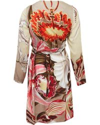 Vivienne Westwood Red Label Multicoloured Floral Long Sleeve Wrap Dress - Lyst