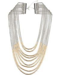 Topshop Mesh And Tube Necklace - Lyst