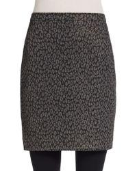 Saks Fifth Avenue Black Label - Shimmer Knit Leopard-print Skirt - Lyst
