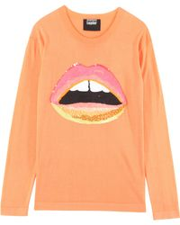 Markus Lupfer Neon Lip Cotton Jumper - Lyst