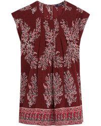 Madewell - Garden Printed Silk Crepe De Chine Top - Lyst