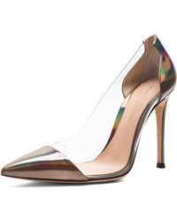 Gianvito Rossi Plexy Laser Leather Heels - Lyst