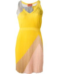 Missoni Pleated Print Dress - Lyst