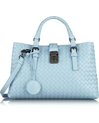 Bottega Veneta Roma Small Intrecciato Leather Tote - Lyst