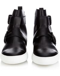 Pierre Hardy Wassup Leather High-Top Sneakers - Lyst