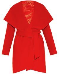 Diane von Furstenberg Wrap Wool Coat - Lyst