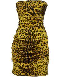 Dolce & Gabbana Green Short Dress - Lyst