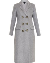 Burberry Prorsum Double-Breasted Cashmere Coat - Lyst