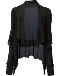 Rick Owens Draped Knit Cardigan - Lyst