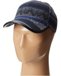 San Diego Hat Company Ethnic Print Cap with Faux Leather Trim - Lyst