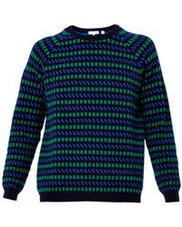 Chinti And Parker Checkerboardintarsia Wool Sweater - Lyst