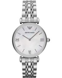 Emporio Armani Ladies Gianni Stainless Steel Watch - Lyst