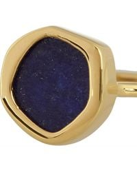 Monica Vinader Atlantis Gold-plated Lapis Ring - Lyst