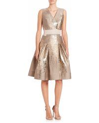 Carolina Herrera | Wisteria Jacquard Cocktail Dress | Lyst