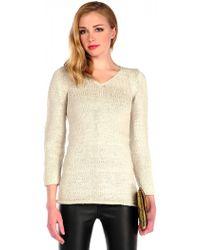 Pima Doll Hand Knit Tunic - Lyst