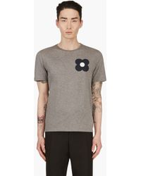 Burberry Prorsum Heather Grey Floral Graphic T_shirt - Lyst