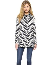 Tory Burch Tavia Chevron Jacket  - Lyst